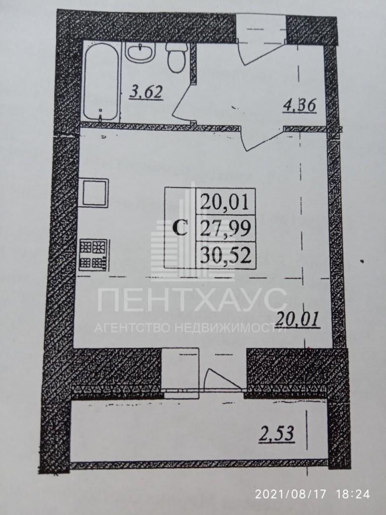 г. Владимир, Верхняя Дуброва ул., 32 в, 1-к. квартира на продажу