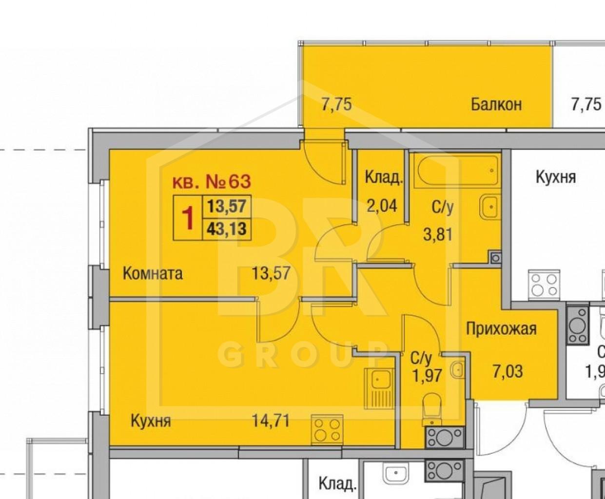 Продажа 1-комнатной квартиры, Санкт-Петербург, Суздальское ш.,  24