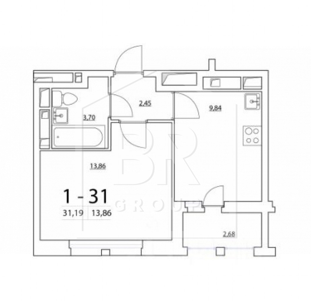 Продажа 1-комнатной квартиры, Санкт-Петербург, Планерная ул.,  65
