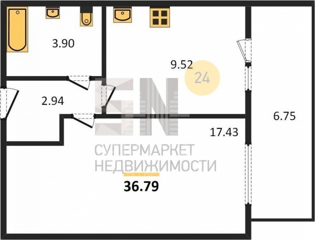 г. Владимир, Диктора Левитана ул., 46, 1-к. квартира на продажу