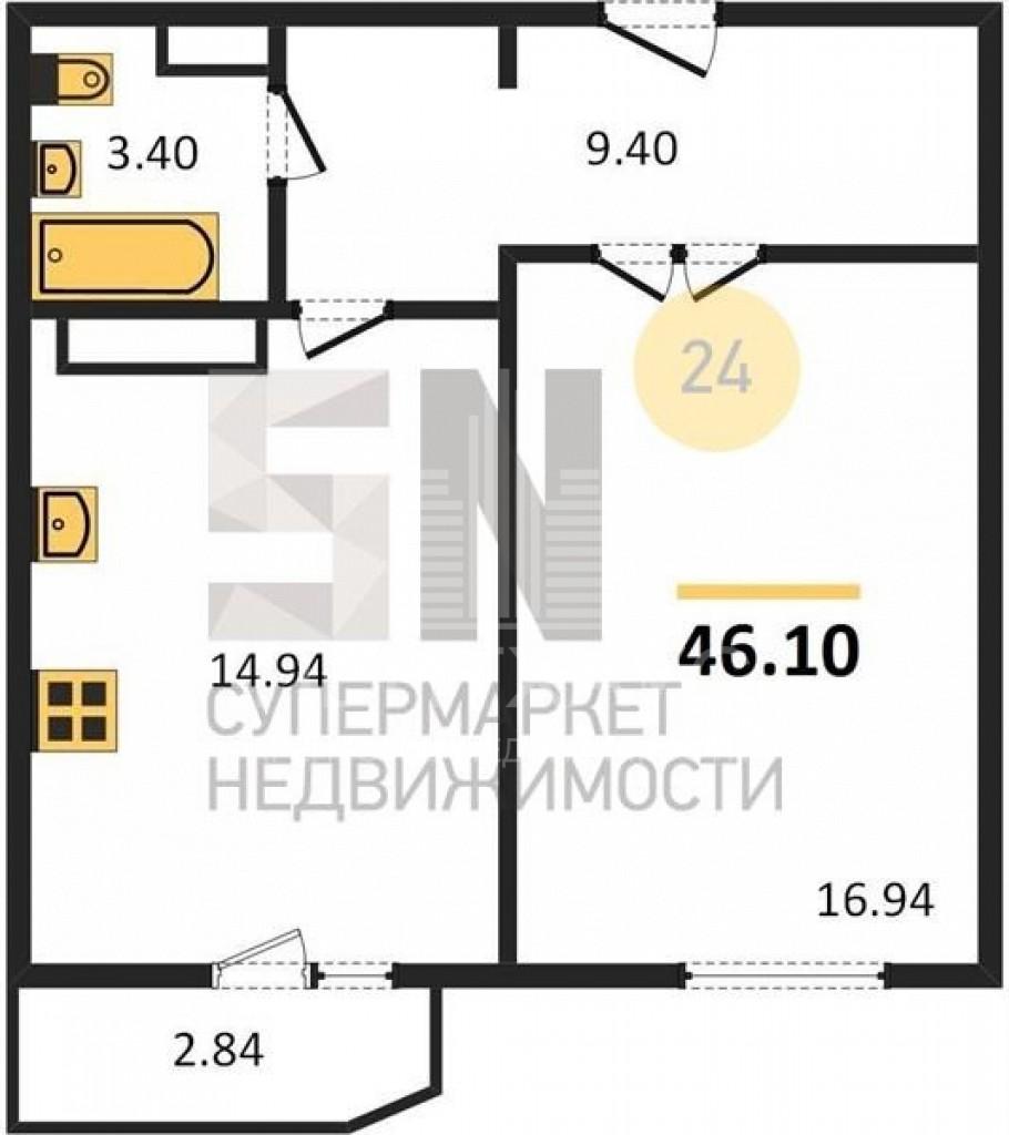г. Владимир, Северная ул., 2а, 1-к. квартира на продажу
