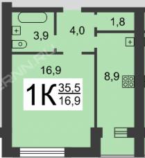 Продажа 1-комнатной квартиры Березовская, 65, Нижний Новгород
