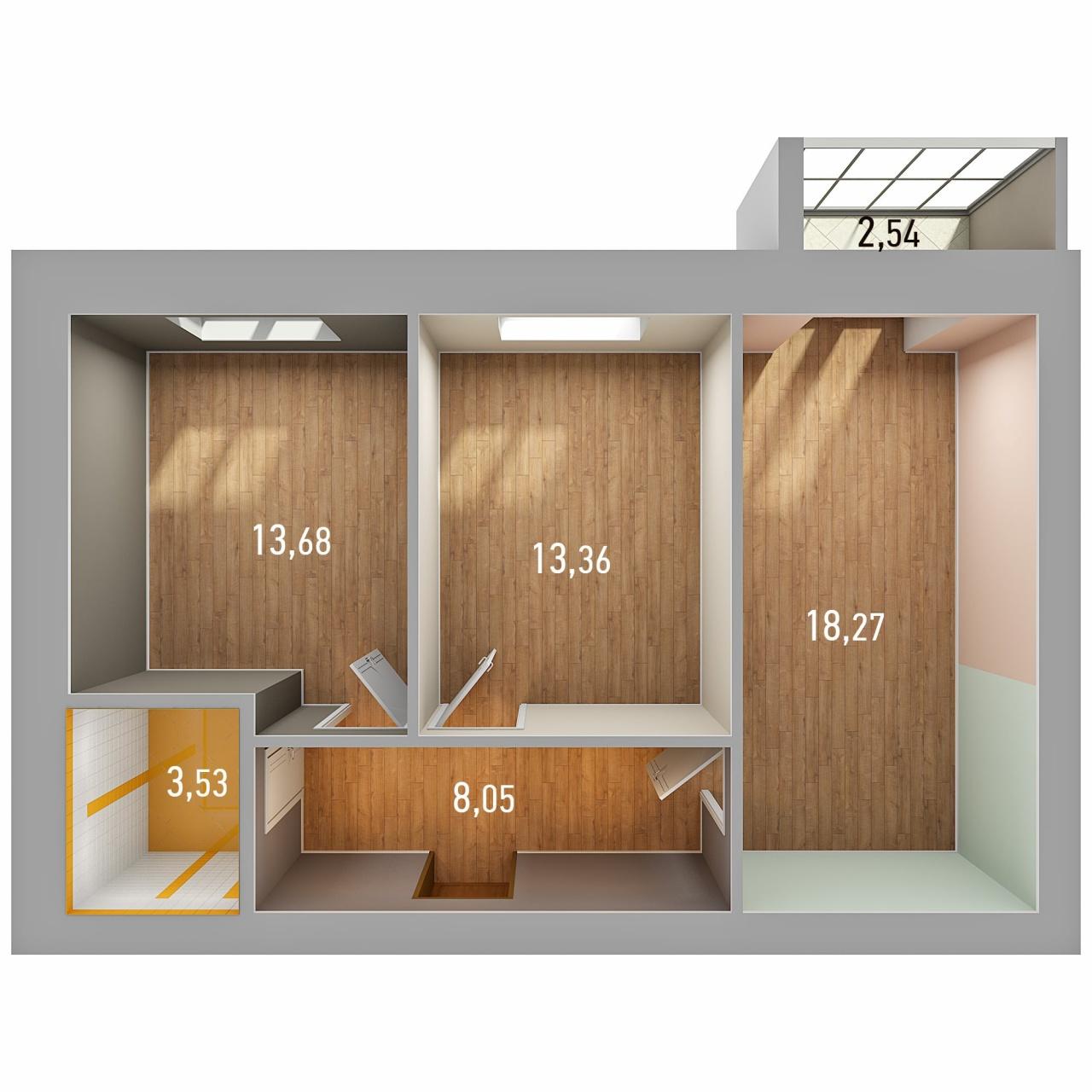 Продажа 2-к квартиры ул. Петра Гаврилова, д. 34