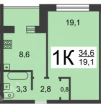 Продажа 1-комнатной квартиры Березовская, 20, Нижний Новгород
