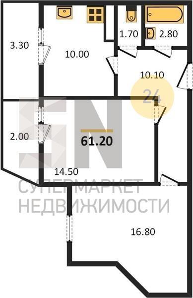 г. Владимир, Верхняя Дуброва ул., 40, 2-к. квартира на продажу