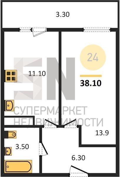г. Владимир, Северная ул., 2, к а, 1-к. квартира на продажу