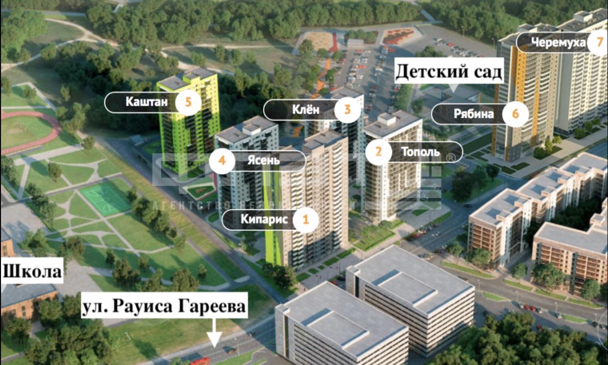 Продажа 2-к квартиры Рауиса Гареева ул., д.105, к.2